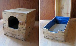 Uzavretá podložka pre mačky