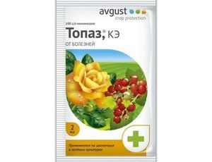 Fungicid Topaz: inštrukcie