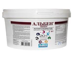 Charakteristiky použitia anthelmintického lieku Alben vo veterinárnej medicíne