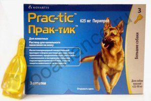 Prach-tick Prac-tic kvapky z bolestí a roztočov pre psov