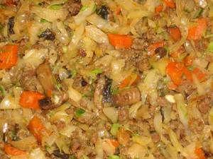 Zelená kapusta s mletým mäsom - obľúbené recepty