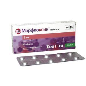 Tablety Marfloxinu pre psov a mačky
