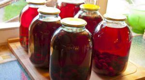 Recept na varenie čerešňového kompótu na zimu