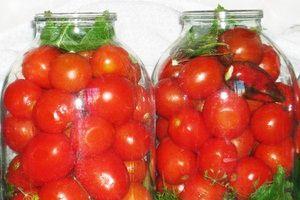 Čerstvé solené paradajky