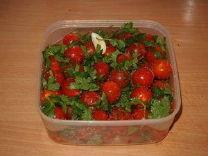 Ľahko slané cherry paradajky