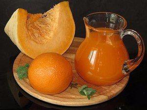 Tekvicový džús s pomarančom