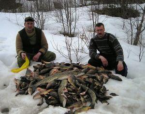 Zimný rybolov, rôzne druhy výstroja
