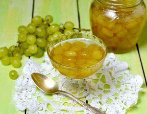 Jam z hrozna: recepty na jednoduché a užitočné prípravky