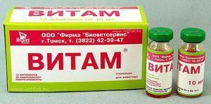 Vitam - komplex pre zvieratá, návod na použitie